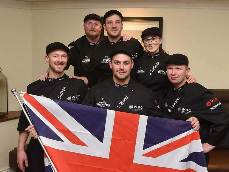 Flying the flag for The World Butchers' Challenge